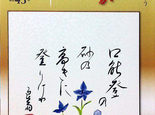 月刊俳誌「東京ふうが」平成27年秋季号通巻43号表紙